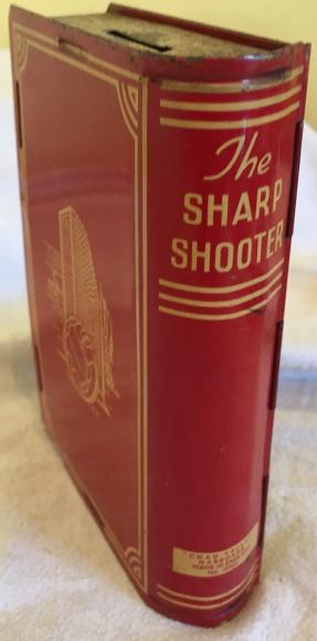 rare 1930s chad valley sharp shooter money box
