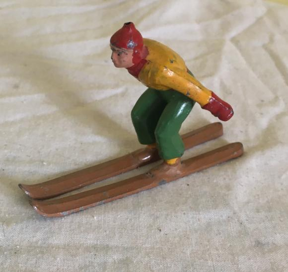 scarce vintage use lead skier