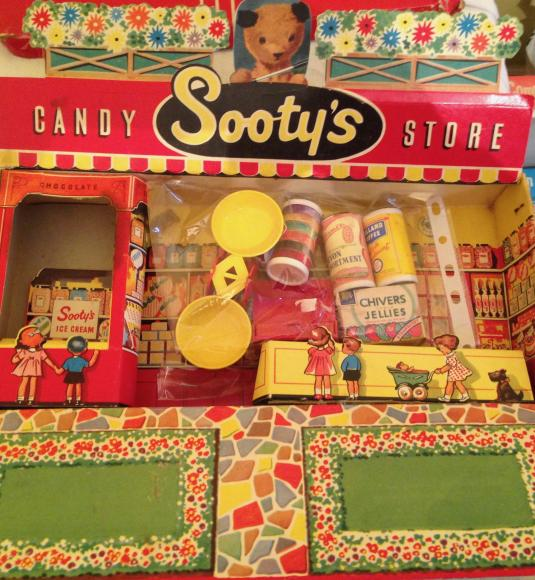 1960s sooty candy store , boxed