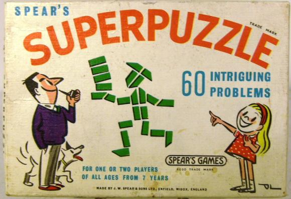 1960's spears super puzzle set ( unopened)