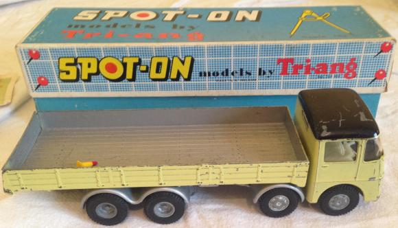 A vintage Triang Spot on 1:43 AEC Mammoth flat bed truck with comes in its box a