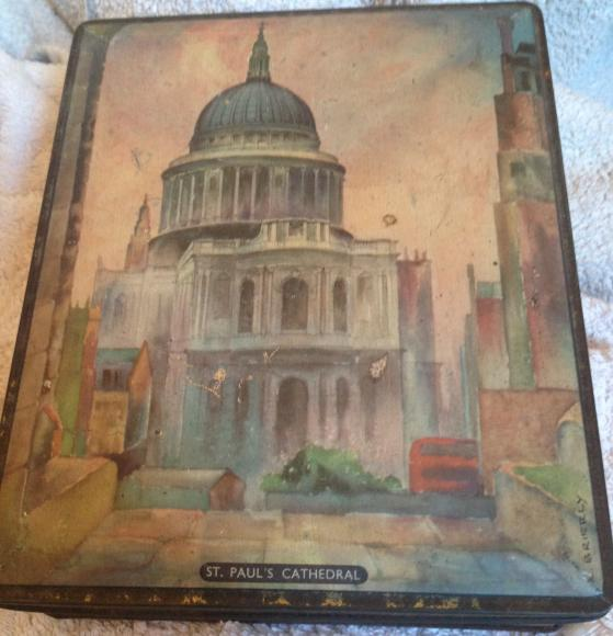 c1960's sharpes st pauls cathedral confectionary  tin