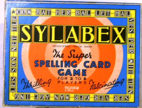 vintage boxed set pepys sylabex spelling card game