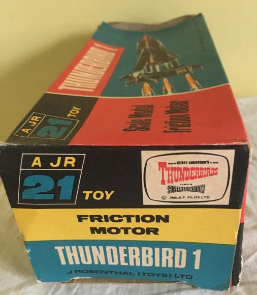 original 1960s jr21 thunderbird 1 boxed