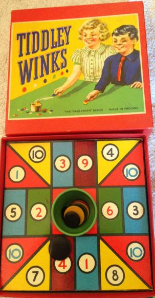 1950s harlesden tiddly winks boxed set