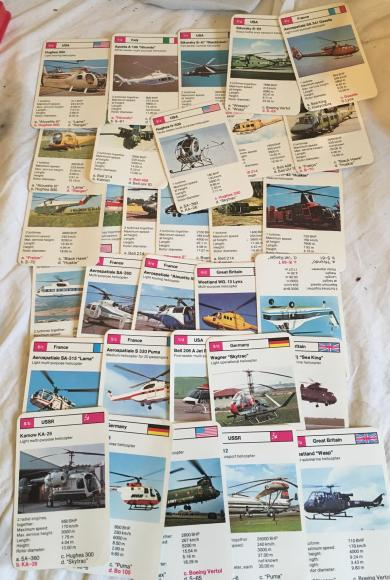 1970s top trumps helicopters series 2 , complete
