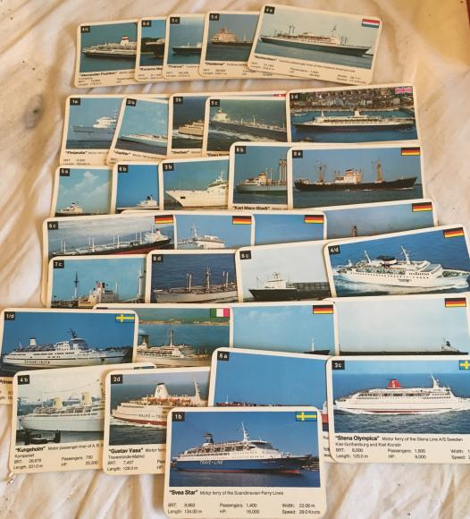 1970s top trumps ships series 2 , complete