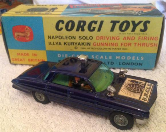 1960s corgi man from uncle car boxed with ring 497