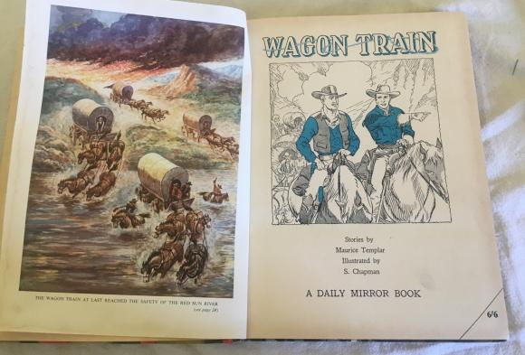 1959 wagon train  annual unclipped