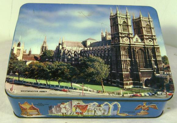 1965 huntley & palmer westminster abbey biscuit tin