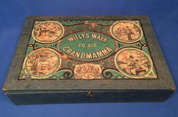 c1869 Willys walk to see grandmamma moral game, complete