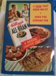 1950s kellogs all-bran tin on card point of sale shop sign