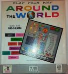 v.rare 1962 mb usa Around the World board quiz  game, complete