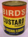 1960's ecomony size birds custard tin