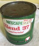 1970s large trade tin Nescafe blend 37 coffee