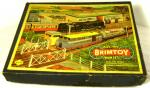 1950's brimtoy tin plate electric oo gauge railway set boxed