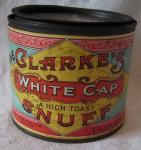 rare early clarkes snuff large tin