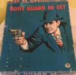 1950s Japanese bodyguard 38 toy gun set boxed