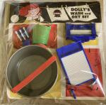 1970s carded dolly wash and dry set
