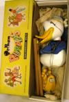 1960's wooden pelham donald duck puppet ( boxed)