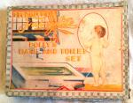1930s fairylite dollys bath * toilet set, boxed