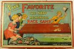 c1920's glevum the favourite mechanical racing game, complete