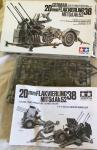 Tamiya WWII GERMAN 20mm FLAKVIERLING 38 MIT SD. Ah.52 1/35 Scale Kit 35091