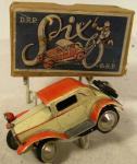 1930's german gescha clockwork diecast trick car ( boxed)