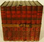 1900 huntley & palmer ' the library' book biscuit tin
