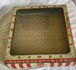 very rare Scribbans kemp glass topped biscuit tin