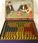 c1920's chad valley spoil- five wooden board game complete
