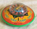 1970s japanese tin plate  toy spaceship roulette game