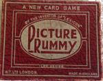 1937 turners picture rummy card game , complete