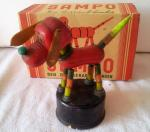 1950s german celluloid sampo dog boxed