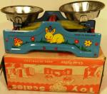 1960's chad valley tin plate toy scales ( boxed)