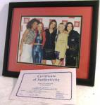 1998 spice girls photo  with certificate & framed