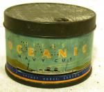 vintage round spinnets hills oceanic tobacco tin