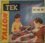 1960's tallon tek construction toy set no 20 unopened