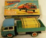 1960's tin plate battery truck with monorail ( boxed)