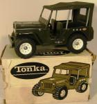 vintage tonka us army jeep 2205 ( boxed)