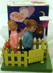 1970's celluloid boy meets girl kissing toy ( boxed)