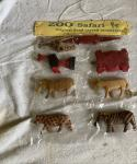 1960s point of sale card wooden zoo animals complete