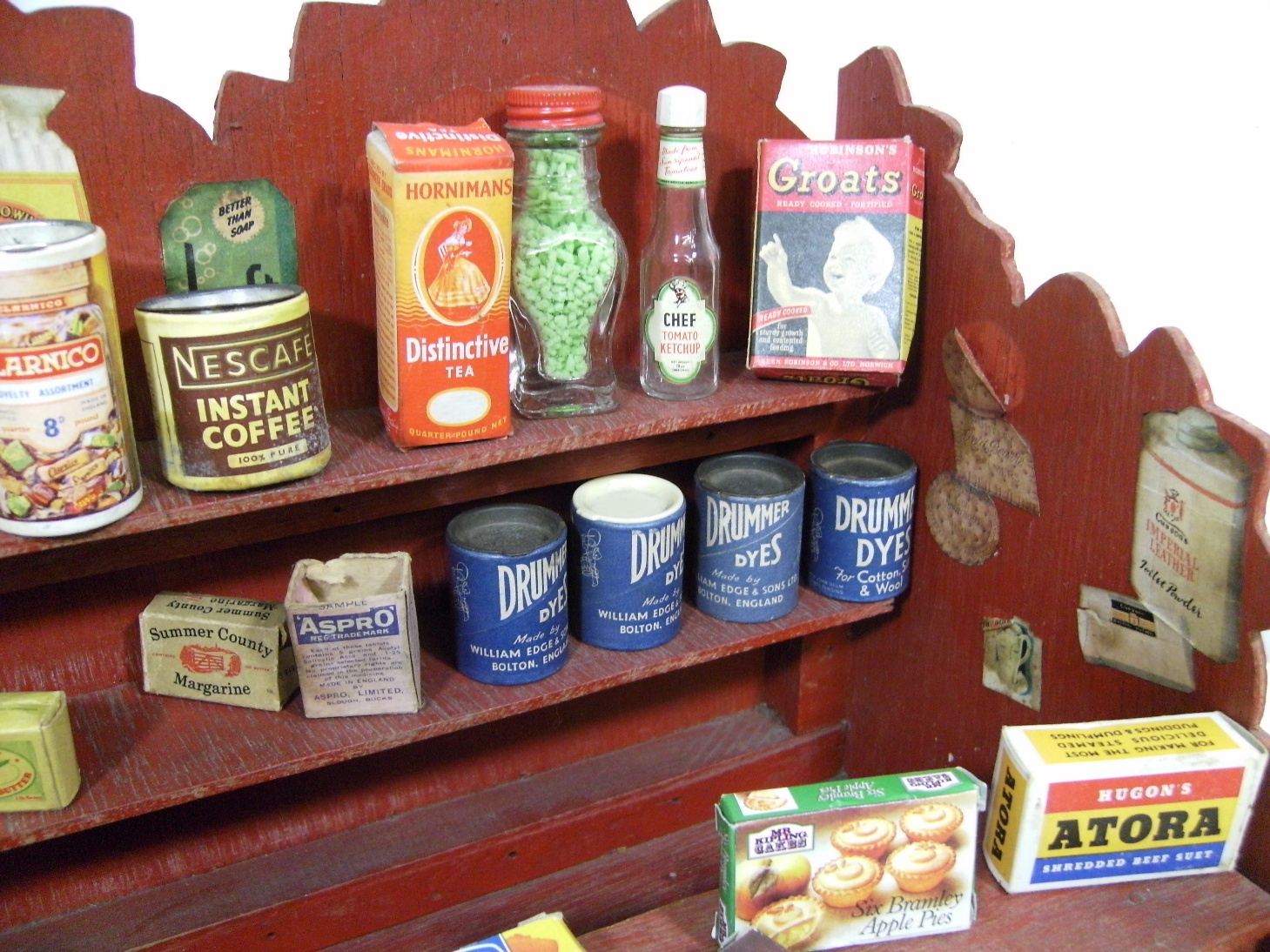Delightful Scratch Built Wooden Toy Sweet Shop Counter Packets